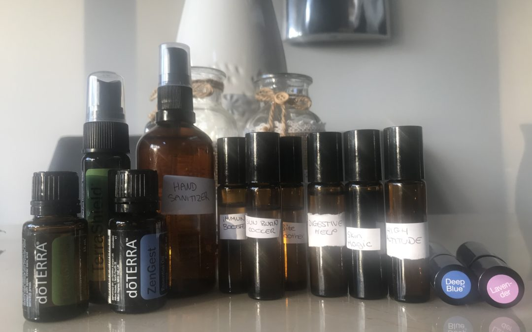 Essential Oil blends to take travelling