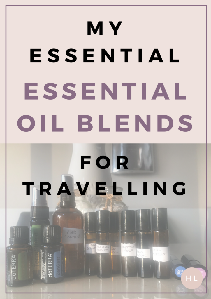 essential oils for travelling