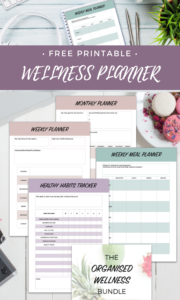 Organised wellness planner bundle